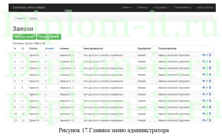 Разработка информационной системы приема и обработки заявок  Получите бесплатно демо версию