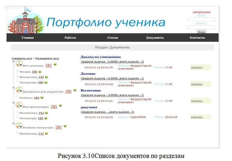 Диплом разработка портфолио год Проектирование и разработка веб сайта Портфолио ученика Работа подготовлена и защищена в 2013 году